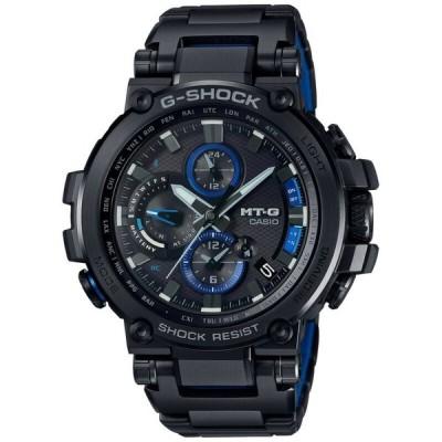 腕時計 カシオ メンズ *BRAND NEW* Casio G-Shock Men's MT-G Solar Black and Blue Watch MTGB1000BD-1A