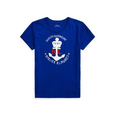 POLO RALPH LAUREN T シャツ ブライトブルー XS コットン 100% T シャツ