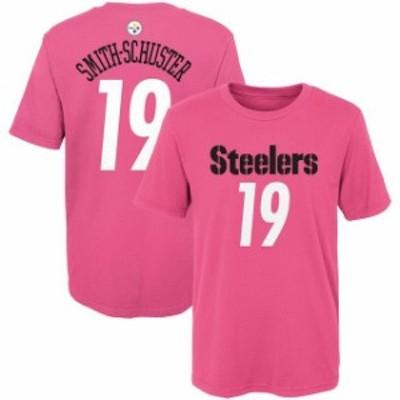Outerstuff アウタースタッフ スポーツ用品  JuJu Smith-Schuster Pittsburgh Steelers Girls Preschool Pink Player Mainliner Name & N