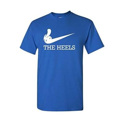 Dukeファン面白いFlipping Bird Middle Finger Swoosh Rival Tシャツ L ブルー