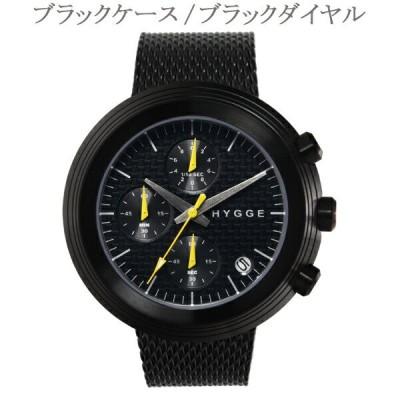 【50%Off】ヒュッゲ HYGGE 2312クロノグラフシリーズ HGE020022 ステンレスメッシュストラップ