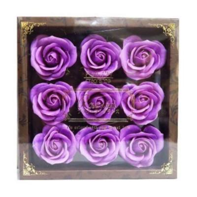 お花のカタチの入浴剤 ミニローズフレグランスL 9輪入り 771583