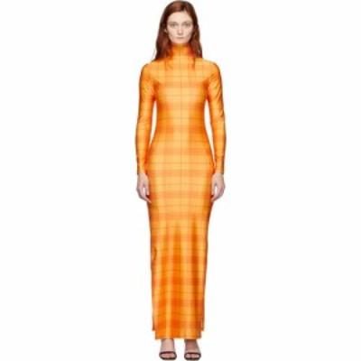 スプリヤ レーレ Supriya Lele レディース ワンピース スリットワンピース ワンピース・ドレス orange high slit madras dress Madras ch