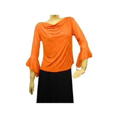 社交ダンス コーラス衣装 ダンスストップス レディース ダンスウェア 衣装  オレンジ