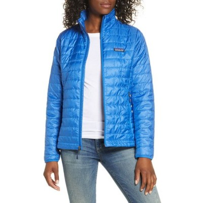 パタゴニア ジャケット・ブルゾン アウター レディース Nano Puff ョ Water Resistant Jacket Bayou Blue