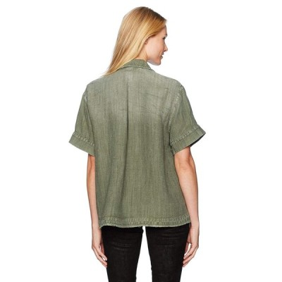 AG Adriano Goldschmied Women's Anson Top, Sulfur Climbing Ivy Small