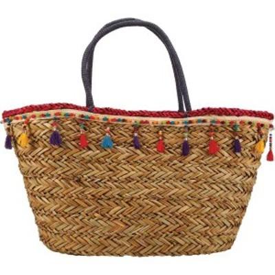 カペリストローワールド レディース ハンドバッグ バッグ BAG1181 Wrapped Handle and Tassel Tote Bag Fuchsia