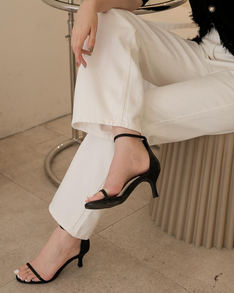 優雅繞踝低跟鞋-Mercci22