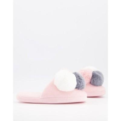 エイソス レディース サンダル シューズ ASOS DESIGN Zanders pom pom slippers in pink