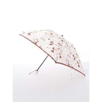 MOONBAT (ムーンバット) レディース 【ルフジュ】婦人折りたたみ傘シルエット花柄 ピンク フリー