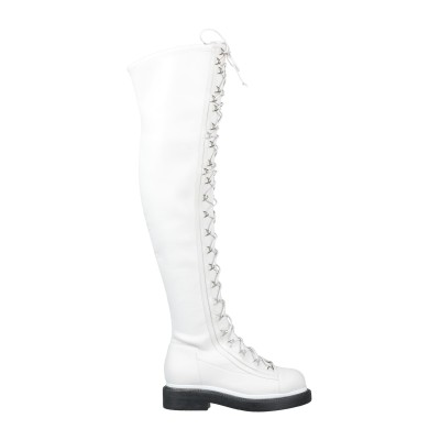 GREY MER ブーツ ホワイト 37 紡績繊維 ブーツ