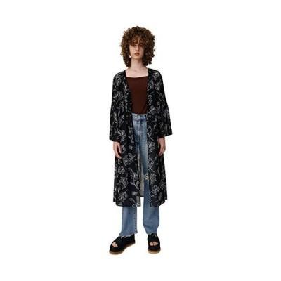 [マウジー] ジャケット コート SHEER FLOWER ガウン 010CSK30-2060 FREE ブラック レディーズ