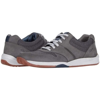 クラークス Langton Race メンズ スニーカー 靴 シューズ Grey Nubuck
