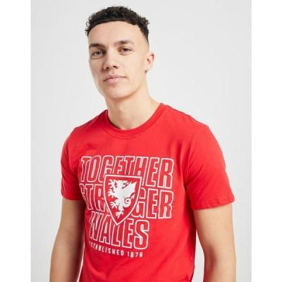 オフィシャルチーム Official Team メンズ トップス Wales Together Short Sleeve T-Shirt red