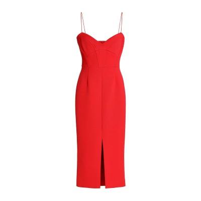 NICHOLAS 7分丈ワンピース・ドレス レッド 2 レーヨン 84% / ナイロン 12% / ポリウレタン 4% 7分丈ワンピース・ドレス
