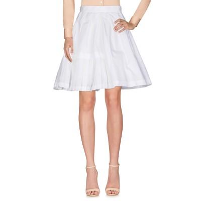エルマノ シェルヴィーノ ERMANNO SCERVINO ひざ丈スカート ホワイト 38 コットン 100% ひざ丈スカート