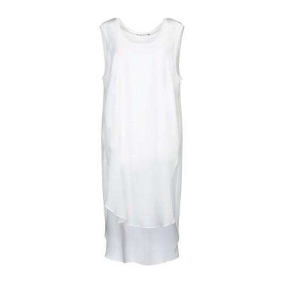 SLY010 ミニワンピース&ドレス ホワイト 36 シルク 100% / レーヨン / ポリウレタン ミニワンピース&ドレス