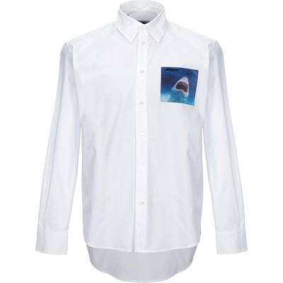 エムエスジーエム MSGM メンズ シャツ トップス solid color shirt White