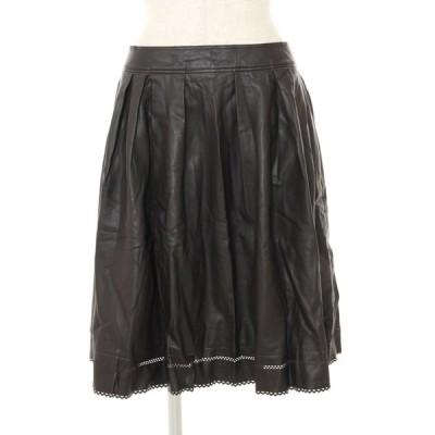 フォクシーニューヨーク スカート 23373 フェイクレザー 40