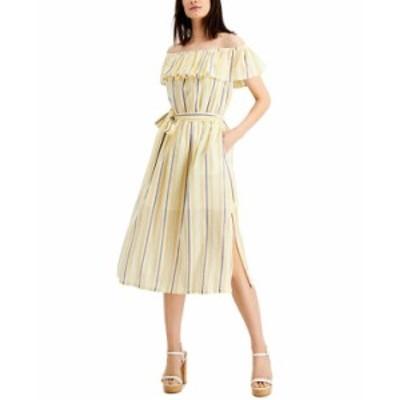 マイケルコース レディース ワンピース トップス Ruffled Off-The-Shoulder Dress Regular & Petite Sizes Saffron