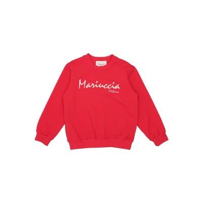 MARIUCCIA スウェットシャツ レッド 10 コットン 95% / ポリウレタン 5% スウェットシャツ