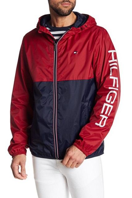 Tommy Hilfiger 男生連帽外套/防風外套/防潑水/風衣外套/ 官網熱銷款  LOGO 158AN416