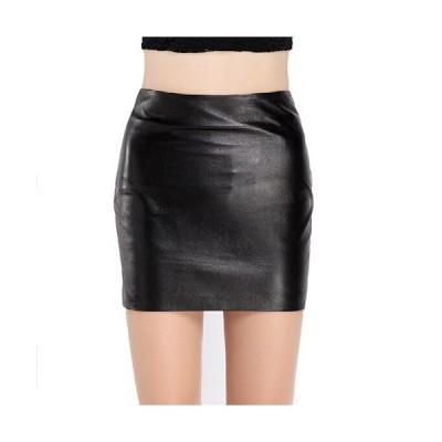 タイトミニスカート リアルレザー 本革ラムレザースカート シンプルなデザイン スカートショート丈 皮スカート セクシー QZ195