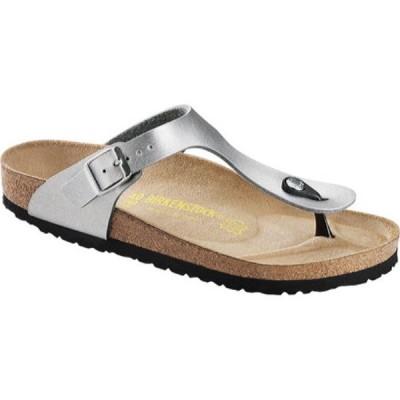 ビルケンシュトック Birkenstock レディース シューズ・靴 サンダル Gizeh Birko-Flor Sandal Silver Birko Flor
