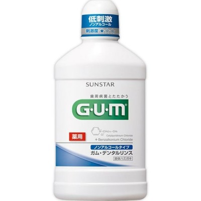 ガム GUM  薬用デンタルリンス ノンアルコールタイプ 500mL (医薬部外品)