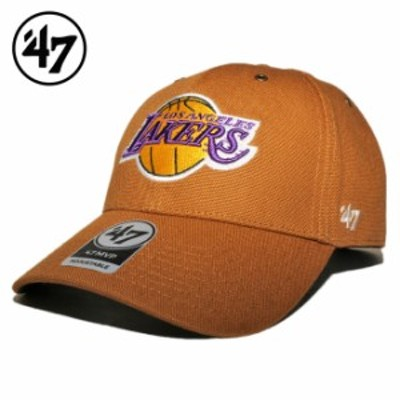 47ブランド カーハート コラボ ストラップバックキャップ 帽子 メンズ レディース 47BRAND CARHARTT NBA ロサンゼルス レイカーズ フリー