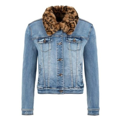 トリバル レディース コート アウター Jean Jacket with Removable Faux Fur Collar