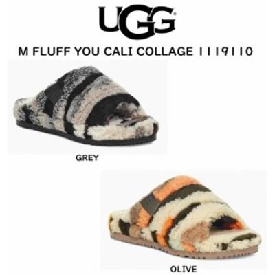 UGG(アグ)メンズ ムートン スリッパ サンダル ルームシューズ M FLUFF YOU CALI COLLAGE 1119110