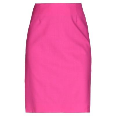 ランバン LANVIN ひざ丈スカート フューシャ 36 ウール 100% ひざ丈スカート