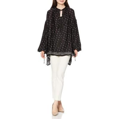 [リプレイ] ライトレーヨンプリント ブラウス Shirts レディース ブラック-ホワイト EU S (日本サイズM相当)