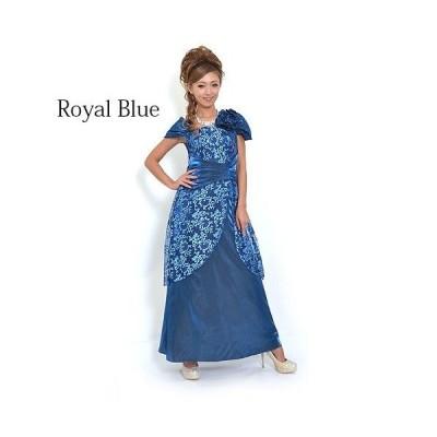 刺繍コサージュ付きドレス Nv10