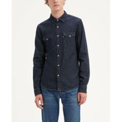 リーバイス メンズ シャツ トップス Men's Classic Clean Standard Fit Denim Western Shirt Red Cast Rinse