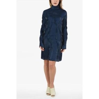 KENZO/ケンゾー Blue レディース Long Sleeve WAVE Mini Dress dk