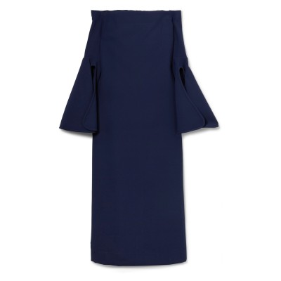 エラリー ELLERY 7分丈ワンピース・ドレス ダークブルー 8 ポリエステル 100% 7分丈ワンピース・ドレス