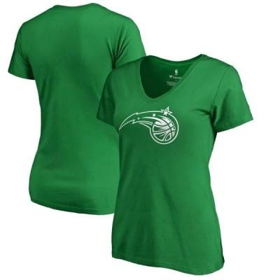 レディース スポーツリーグ バスケットボール Orlando Magic Fanatics Branded Women's St. Patrick's Day White Logo V-Neck T-Shirt - G