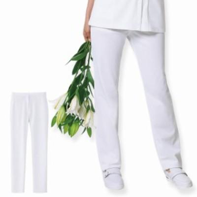 [送料無料キャンペーン開催] ナースリー 看護師 医療 白衣 ナースウェア 女性 ホワイトリリー スリムパンツ