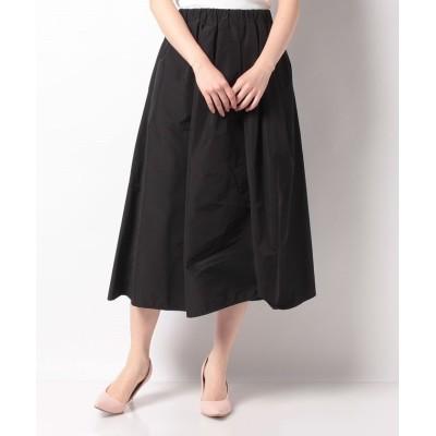【ルゥデ】 タフタタックボリュームスカート(1R10-02194) レディース ブラック S Rewde