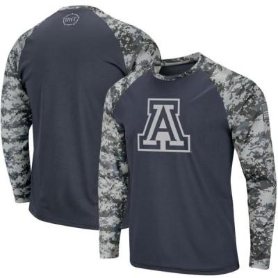 ユニセックス スポーツリーグ アメリカ大学スポーツ Arizona Wildcats Colosseum OHT Military Appreciation Digi Camo Raglan Long Sl