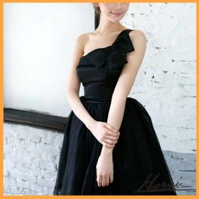 ウェディングドレス ワンショルダー 袖なし ひざ丈 ドレス 結婚式 二次会 20代 30代 40代 お取り寄せ