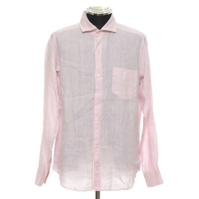 INHERIT インヘリット リネンシャツ サイズL 麻 メンズ ピンク