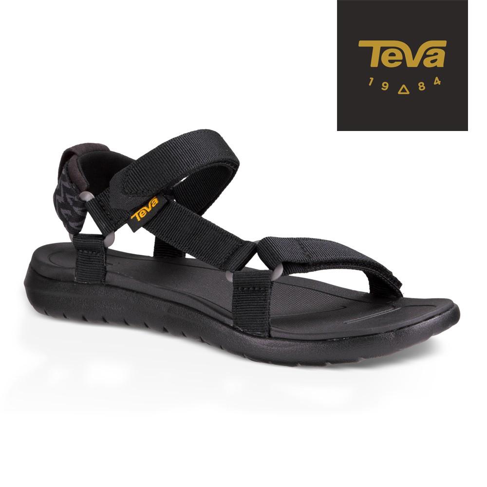 【TEVA】女 Sanborn Universal 輕量織帶涼鞋/雨鞋/水鞋-黑 (原廠現貨)