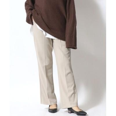 Salong hameu / ストレッチフェイクウール センタ-プレスセミフレアパンツ WOMEN パンツ > スラックス