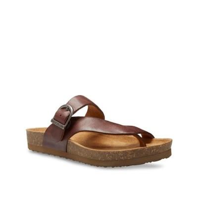 イーストランド サンダル シューズ レディース Eastland Women's Shauna Thong Sandals Walnut