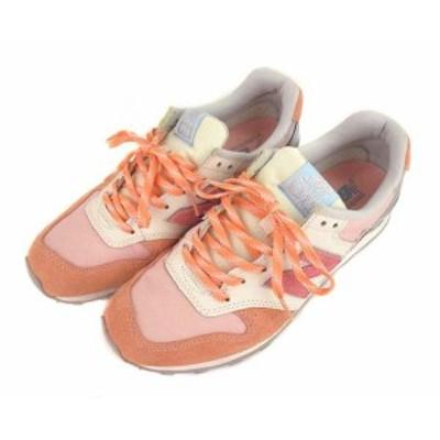 【中古】ニューバランス NEW BALANCE ローカット スニーカー シューズ 靴 WR996EN シャーベット ピンク系 24.5cm