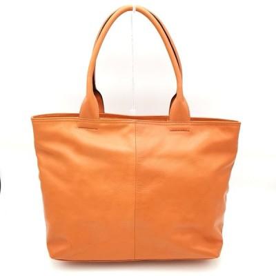 送料無料 フリークスストア FREAKS STORE ハンドバッグ トートバッグ 鞄 レザー 本革 オレンジ系 レディース