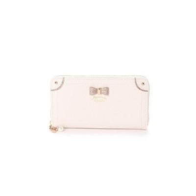 プリムヴェールリズリサ Primevere LIZ LISA ケイトシリーズ ゴールドリボン付ラウンドファスナー長財布 (ホワイト)